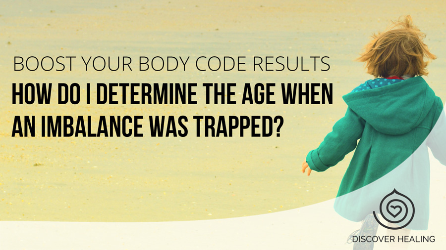 How do I determine the age when an imbalance was trapped?