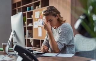 woman feeling overwhelmed
